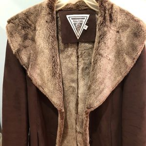 Marvin Richards suede and faux shearling jacket